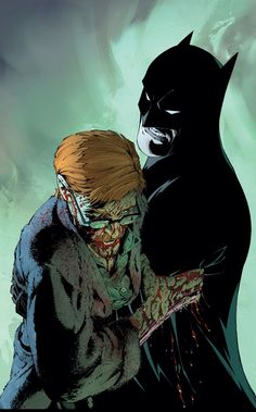 """Gordon and Batman from """"Death of the Family"""" art by Greg Capullo"""