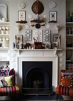 Facts About How to Decorate a Fireplace? : How To Decorate Above A Fireplace. How to decorate above a fireplace. Fireplace Mantle, Living Room With Fireplace, Fireplace Design, Mantle Art, Fireplace Gallery, Fireplace Modern, Mantle Ideas, Fireplace Ideas, Living Rooms