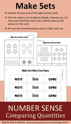 FREE Number Sense Activity ~ Counting and Comparing ~ First Grade Math ~ For more First Grade Math Resources for Intervention Groups and Special Education visit:  https://www.teacherspayteachers.com/Store/Angela-Dansie