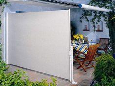 store latéral rétractable et auvent rétractable - solutions de protection du soleil et du vent sur la terrasse