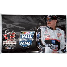 Wincraft Dale Earnhardt Legacy Hall Of Fame 1 Sided 3' X 5' Flag by WinCraft. $29.49. After many years of planning and development, the NASCAR® Hall of Fame™ has been erected to showcase the talents and achievements of many drivers and personnel. Pay tribute to an inductee with this Dale Earnhardt flag from WinCraft™. It is made of durable 3-thread polyester and has attached D-rings, so it is easy to hang. The banner is designed with long-lasting, color-fast dye and displa...