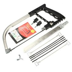 Hand DIY Saw Metal Wood Glass Saw Kit 6 Blades Model Multi Purpose Hobby Tool with Red Box