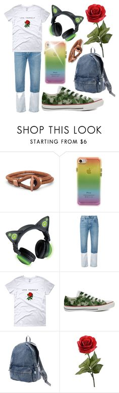 """""""Rose #simplelife"""" by kitty-lau-elisa ❤ liked on Polyvore featuring Rebecca Minkoff, Ports 1961, Converse and Issey Miyake"""