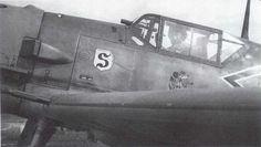 """Adolf """"Dolfo"""" Joseph Ferdinand Galland (March 19, 1912-February 9, 1996) German Aviator Luftwaffe Germany Messerschmitt-Bf-109E4-Stab-JG26-(-+-Adolf-Galland-WNr-5819-France-1940-03"""
