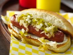 Seattle Dogs-Dinner ready in 15 minutes! Enjoy these grilled beef hot dogs topped with pickle relish and chopped onion – a tasty meal. Dog Recipes, Sandwich Recipes, Grilling Recipes, Appetizer Recipes, Wrap Recipes, Copycat Recipes, Lunch Recipes, Dinner Recipes, Hot Dogs
