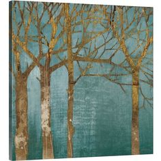 Found it at Wayfair - Golden Day Turquoise by Kathrine Lovell Wall Art on Gallery Wrapped Canvas