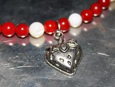 Summertime Strawberry Charm All Natural Beaded by LetitBJewelry, $9.99