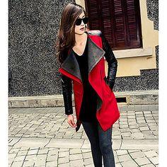 Ampla gola do casaco Tweed Costura Feminina – BRL R$ 61,52