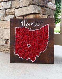 Ohio string art home state sign by HeartStringsbyMeg on Etsy