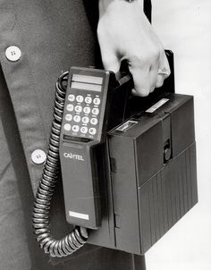 Ahhh!!!! Those were the days! When cell phone users were REAL cell phone users!.... Cell Phone - 1985