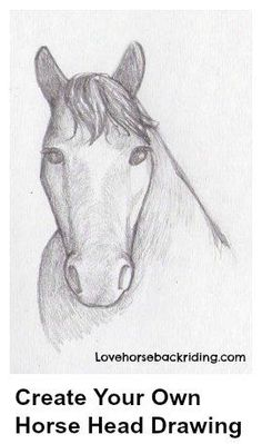 Create your own #horseheaddrawing by following these easy instructions! Visit Today!