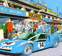 Michel Vaillant. Belgian comic strip art.
