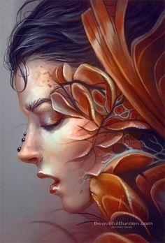Фэнтези картины художницы Jennifer Healy Дженнифер Хили (Jennifer Healy) – талантливая художница, самоучка. Создает фантастические женские образы, сливая воедино красавиц и чудовищ. Родилась в 1985 ...