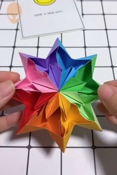 10 amazing and funny origami idea . - 10 Amazing and Funny Origami Ideas DIY Tutorials Videos Part 9 - Paper Flowers Craft, Paper Crafts Origami, Paper Crafts For Kids, Flower Crafts, Paper Crafting, Diy Paper, Origami Paper Art, Diy Flowers, Paper Folding Crafts