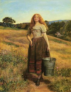 """""""the farmer's daughter"""" or """"the milkmaid"""" by john everett millais c.1863"""