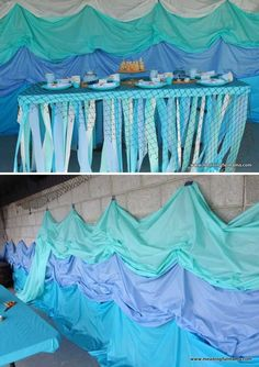 Stunning Under-The-Sea Decorating Ideas Kids Would Love – HomeDesignInspired Mermaid Under The Sea, Under The Sea Theme, Under The Sea Party, Under The Sea Decorations, Underwater Theme, Dance Themes, Prom Decor, Ocean Themes, Partys