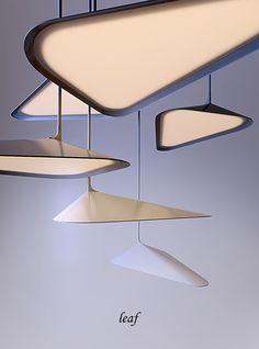 LEAF on Behance Cool Lighting, Modern Lighting, Pendant Lighting, Pendant Lamps, Leaf Pendant, Pendants, Deco Luminaire, Luminaire Design, Light In