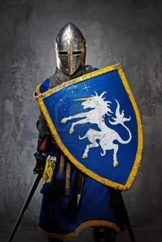 Medieval Knight On Grey Background. Royalty Free Stock Photo, Pictures, Images And Stock Photography. Image 12221674.