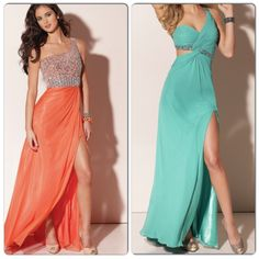 One shoulder prom dresses!