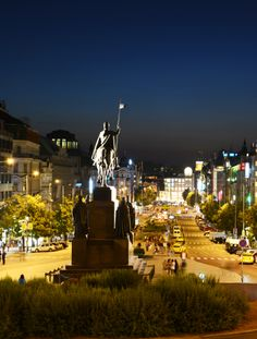 Wenceslas square the heart of the city.