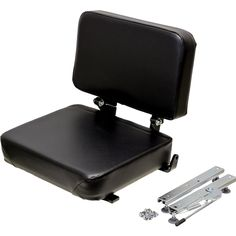 KM Universal Forklift Seat Assembly - The KM Universal Forklift Assembly is a seat that will replace an original forklift or material handling seat to add maximum comfort while you're busy at work. #forklift #kmmanufacturing #tractorseat