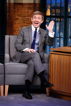 Martin Freeman on Late Night with Seth Meyers (12-8-14)