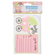 Bulk Pink Its A Girl Baby Shower Party Invitations, 10 Ct. Packs At  DollarTree.com