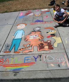 Chalk art festival and school.