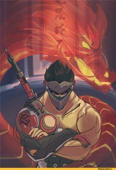 Genji-(Overwatch)-Overwatch-Blizzard-фэндомы-3884758.png (748×1080)