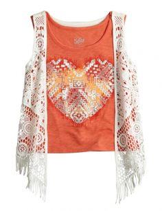 Crochet Vest 2fer