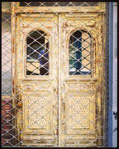 #wooden #closed #door #thessaloniki #skg