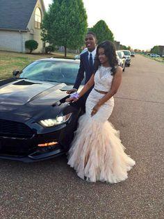 Champaigne On Black Girls Prom Dresses