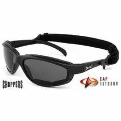 /** Priceshoppers.fr **/ Choppers Lunettes De Soleil Masque - Multisports - Vtt - Moto - Voile - Kite - Ski - Rando - Snowboard / Mod. Stunt Noir / Taille Unique Adulte / Protection 100% Uv400
