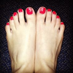 Fall inspired toe nails!