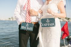 First Mate and Captain Signs Pinterestdreams.blogspot.com Photo Credit:  We are the Mitchells