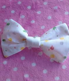 Animal Crossing Inspired Hair Bow or Bow by rocketshipsandradios, $6.75 (dot colors for ac bows. found on an ac ds case as well)