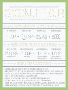 How to substitute coconut flour