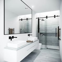 Beautiful master bathroom decor a few ideas. Modern Farmhouse, Rustic Modern, Classic, light and airy master bathroom design a few ideas. Bathroom makeover suggestions and master bathroom remodel tips. Modern Bathroom Design, Bathroom Interior Design, Bathroom Designs, Minimal Bathroom, Simple Bathroom, Modern Luxury Bathroom, Modern Master Bathroom, Luxury Shower, Master Shower