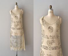 French 75 / vintage 1920s dress / beaded 20s tabard by DearGolden, $560.00