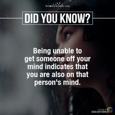 Being Unable To Get Someone Off Your Mind - https://themindsjournal.com/unable-get-someone-off-mind/