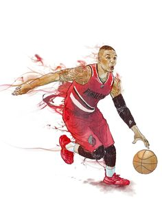 DAMIAN LILLARD by Yu-Ming Huang illustration  #nba #basketball #damianlillard @damianlillard @nba @basketballcoverage @_house_of_hoops_ #illustrator #Illustration #ink #art #artwork #artist #instart #portrait #Taiwan #taipei #yuminghuangillustration #advertising #artoftheday #artdirection #best #newyork #nyc @espn @slamonline @sport_illustrated_ #ripcity @adagency #creativedirection #artdirection #designdirection