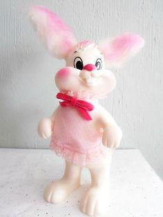 Vintage Easter Bunny Rabbit Piggy Bank by xmaspastnpresents