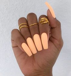 Your nails will appear fabulous! In general, coffin nails are also thought of as ballerina nails. Cute pastel orange coffin nails are amazing if you want to continue to keep things chic and easy. Marble nail designs are perfect if… Continue Reading → Coffin Nails Matte, Cute Acrylic Nails, Neon Nails, My Nails, Acrylic Nails Orange, Neon Orange Nails, Acrylic Summer Nails Coffin, Neon Nail Colors, Pastel Nails