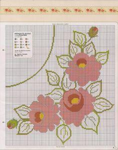 Cross Stitch Rose, Cross Stitch Charts, Cross Stitch Patterns, Bargello, Crochet Motif, Hand Embroidery, Kids Rugs, Floral, Flowers