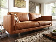 laminate floor in combination with cognac leather sofa. Furniture, Lounge Room Styling, Sofa Design, Sofa, Cognac Leather Sofa, Modern Rustic Decor, Couches Living Room, Living Room Inspiration, Living Decor