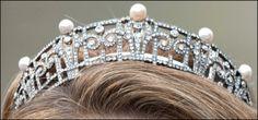 Pearl & Diamond tiara of Princess Claire of Belgium*