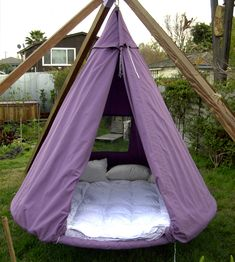 Hanging Outdoor Bed Tent (Waterproof cover) Love sleeping outside! Would love at the new house