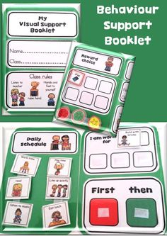 Visual Support Booklet for kids with Autism