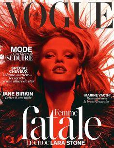 PARIS VOGUE - MARCH 2014 COVER MODEL - LARA STONE