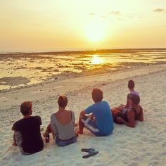 Sunset with friends Gili Island, Islands, Celestial, Sunset, Couple Photos, Friends, Outdoor, Indonesia, Couple Shots